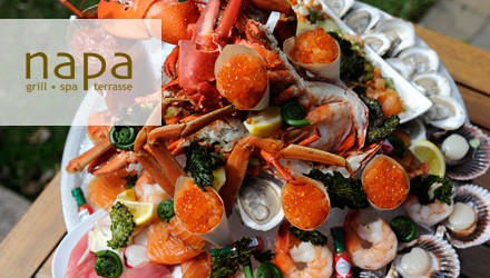 L'assiette de fruits de mer du Napa